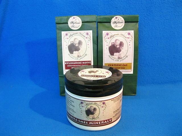 Bylinné čaje a zásaditá směs Mineraly na odkyselení organismu